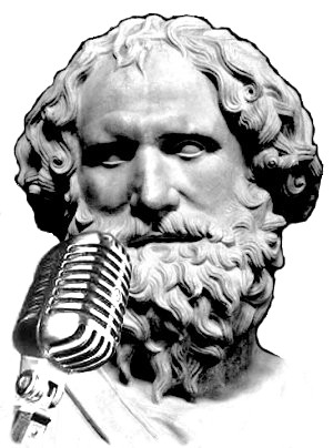 Aristotelis pie mikrofona.